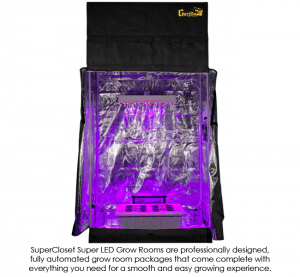SuperRoom 2′ x 4′ LED hydroponic grow room - Gorilla tent
