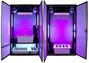 SuperTrinity LED Grow Cabinet - front lights