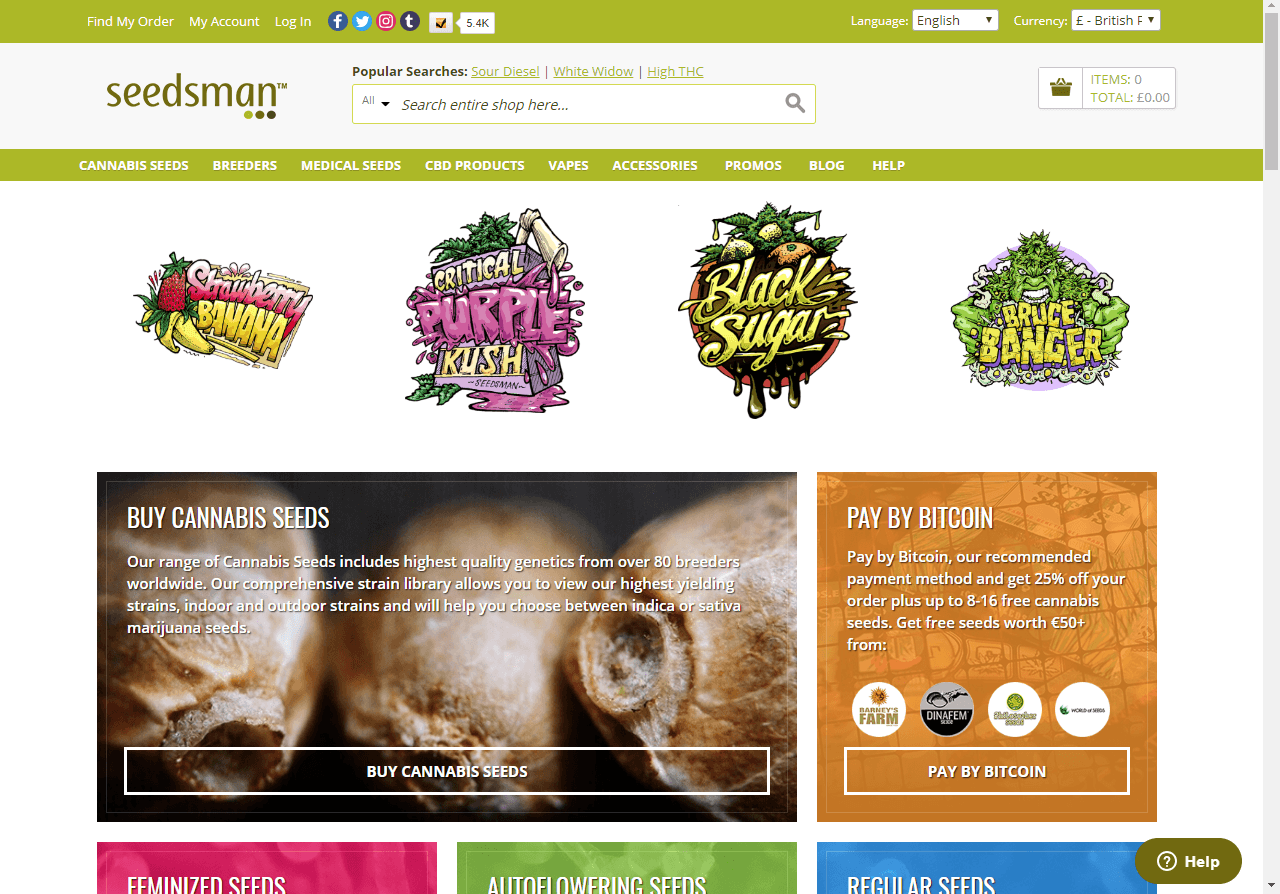 seedsman.com website